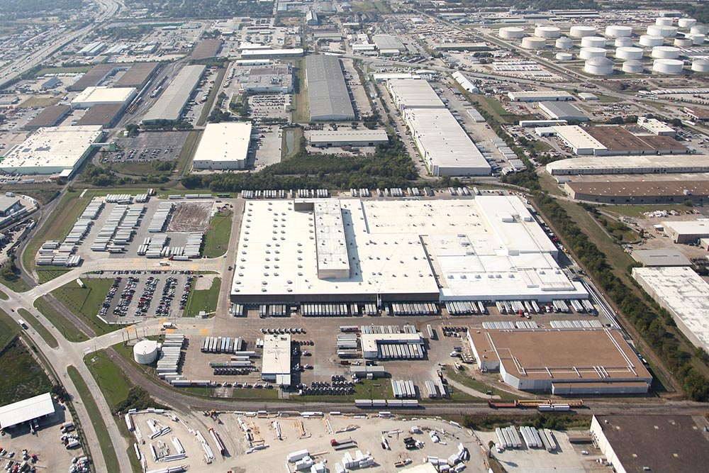 Birds Eye view of Kroger Distribution Center in Houston